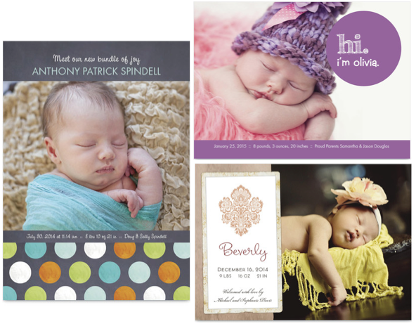 Screen shot 2012 08 17 at 11.47.21 AM *HOT* 3 FREE Birth Announcements + FREE Shipping!