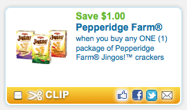Screen shot 2012 08 21 at 9.04.06 AM Coupon RESET $1/1 Pepperidge Farms Jingos! Crackers Coupon = FREE at Target!
