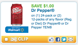 Screen shot 2012 08 30 at 3.09.01 PM *HOT* Target: 12 Pack Cans of Dr. Pepper Only $1.25 with NEW Printable Coupon!