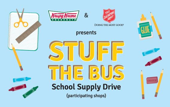 krispy Free Krispy Kreme Donuts when you Donate School Supplies
