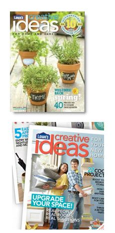 lowescreative FREE Lowes Creative Ideas and DIY Magazines