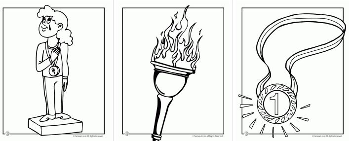 Free Olympics Coloring Pages
