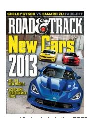 road FREE Road &Track Magazine Subscription