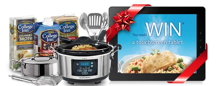 tablet2 Enter to win a Touch Screen Tablet from College Inn Broth
