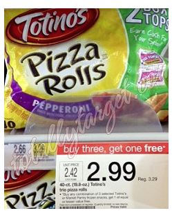 totallytargetpizza Target: 40 Count Totinos Pizza Rolls Only $$1.80 (Reg $3.29)