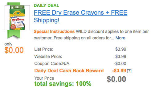 Screen shot 2012 09 05 at 8.48.53 AM Dry Erase Crayons plus Erase Mitt and Sharpener for FREE + FREE Shipping
