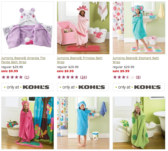 Screen shot 2012 09 09 at 10.17.13 AM Kohls: Jumping Bean Kids Towels only $9.96 Shipped (Reg $29.99)