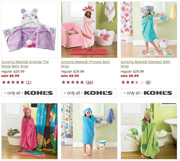 Screen shot 2012 09 09 at 10.17.13 AM Kohls: Jumping Bean Kids Towels only $9.96 Shipped (Reg $29.99)