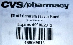 Screen shot 2012 09 09 at 5.12.00 PM CVS: FREE Centrum Flavor Burst Chews (Reg $6.99!)
