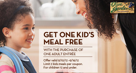 Screen shot 2012 09 10 at 11.23.54 AM Olive Garden: FREE Kids Meal Coupon (Up to 2 FREE Meals!)