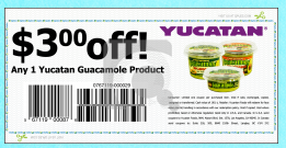 Screen shot 2012 09 16 at 10.57.48 AM High Value $3/1 Yucatan Guacamole Product Coupon