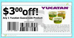 Screen shot 2012 09 16 at 10.57.48 AM High Value $3/1 Yucatan Guacamole Product Coupon