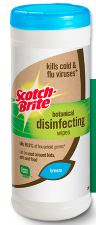 Screen shot 2012 09 17 at 11.55.21 AM FREE Scotch Brite Botanical Disinfecting Wipes Sample