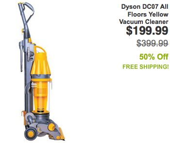 Screen shot 2012 09 17 at 5.12.57 PM *HOT* Dyson DC07 All Floors Yellow Vacuum Cleaner $199 Shipped (Reg. $400+)