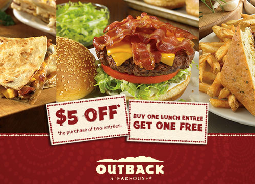 Screen shot 2012 09 24 at 8.23.16 AM Outback Steakhouse: FREE Bloomin Onion + $5 off and Buy 1 Get 1 FREE Lunch Coupon!