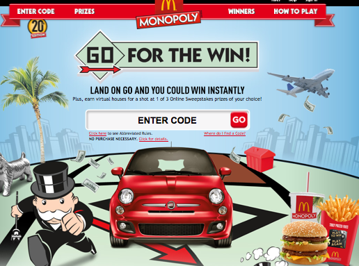 Screen shot 2012 09 25 at 11.33.38 AM McDonalds Monopoly: 4 FREE Codes!