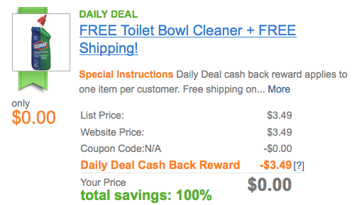 Screen shot 2012 09 27 at 8.50.29 AM FREE Clorox Toilet Bowl Cleaner with Bleach + FREE Shipping!