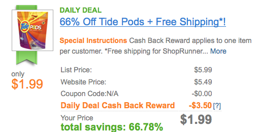 Screen shot 2012 10 05 at 9.03.02 AM *HOT* Tide PODS Spring Meadows Package Only $1.99 Shipped! (After Cash Back)
