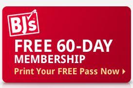 bj FREE 60 day BJs Membership!