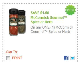 mccormick High Dollar McCormicks Spice Coupons