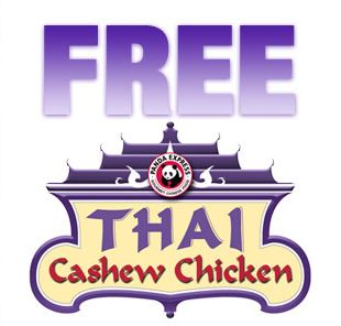 thai Free Thai Cashew Chicken at Panda Express October 3rd