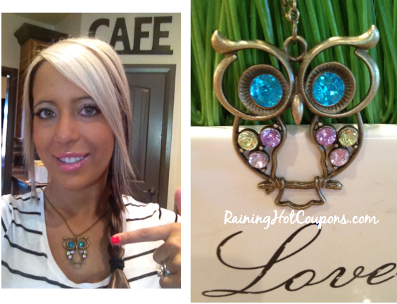 Screen shot 2012 10 07 at 8.32.29 PM *HOT* Amazon: Colorful Owl Charm Necklace Only $1.09 + FREE Shipping!