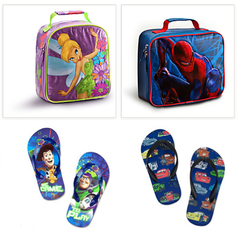 Screen shot 2012 10 08 at 9.42.49 AM Disney Store: FREE Shipping = Flip Flops Only $1.99, Lunch Totes $5.99 + More!