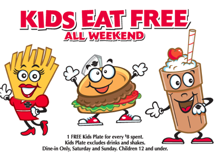 Screen shot 2012 10 13 at 5.59.38 PM Steak N Shake: Kids Eat FREE! (Saturday and Sunday Only)
