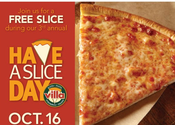 FREE Slice of Pizza from Villa Fresh Italian Kitchen Today Only