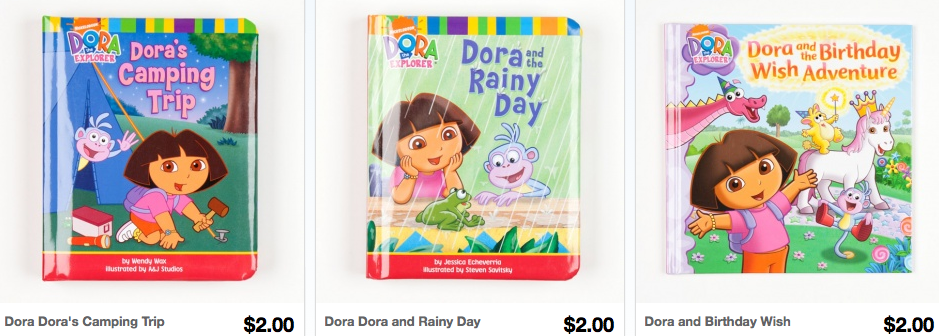 Screen shot 2012 10 18 at 11.05.57 PM *HOT* Character Books Only $2 Shipped (Dora, Backyardigans, Spongebob Squarepants, Tangled and more)