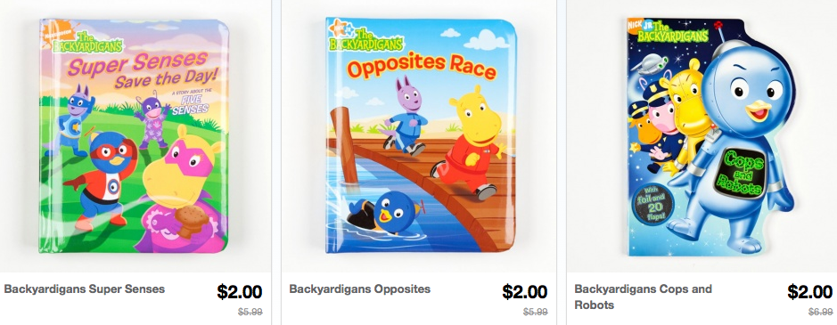Screen shot 2012 10 18 at 11.06.10 PM *HOT* Character Books Only $2 Shipped (Dora, Backyardigans, Spongebob Squarepants, Tangled and more)