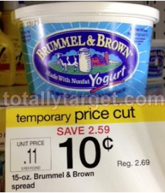Screen shot 2012 10 21 at 6.19.46 PM Target: Brummel & Brown Spread Only $0.10 (Reg. $2.69)! No Coupons Needed