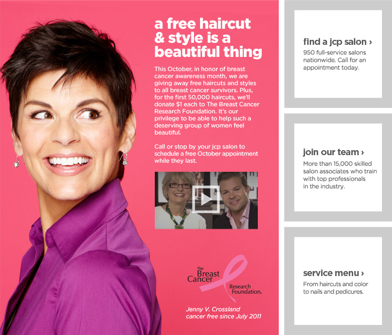 Jcpenneys Free Hair Cuts To Breast Cancer Survivors