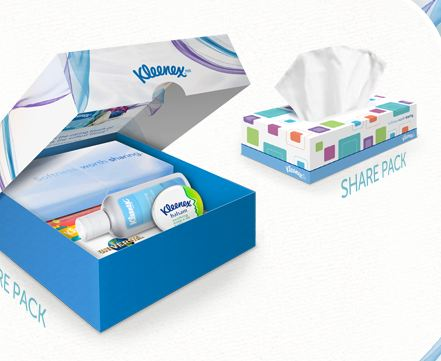 care FREE Care Pack from Kleenex (code reqd)
