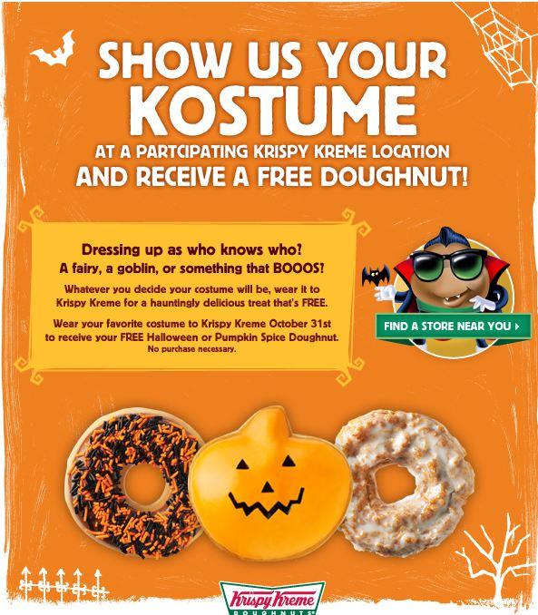 kripsy Free Krispy Kreme Donut on 10/31