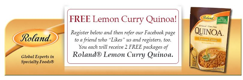 lemoncurry 2 Free Packages of Lemon Curry Quinoa!
