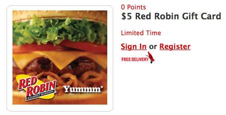 HURRY Free $5 Red Robin Gift Card at My Coke Rewards