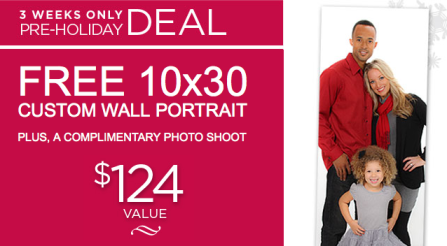 searsport Free 10X30 Wall Portrait at Sears (Retail. $124)