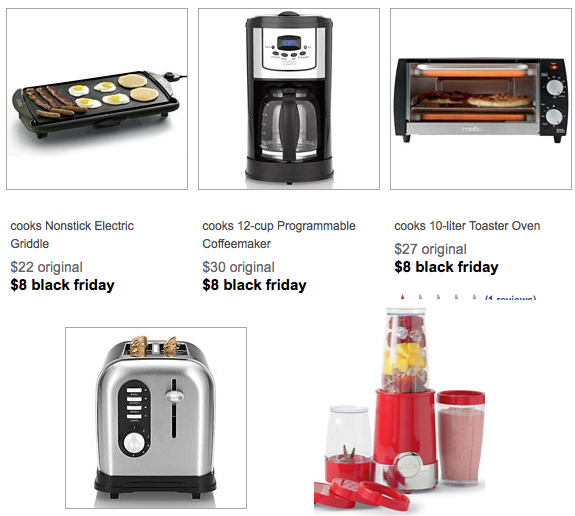 hot  jcpenney  lots of kitchen appliances only  7 20