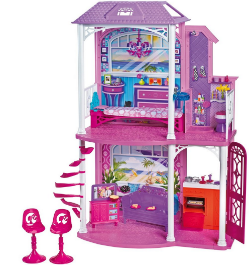Barbie 2 Story Beach House With Furniture And Accessories