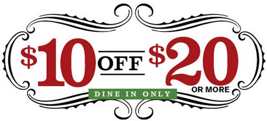 Buca Di Beppo: High Value $10 off a $20 Purchase Coupon!