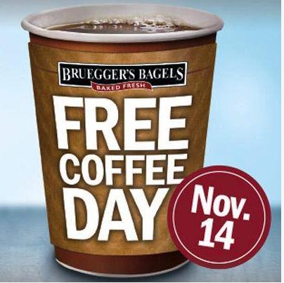 Free Brueggers Coffee
