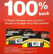 duracel rebates Staples: FREE 8.5″ x 11″ Copy Paper Ream AND FREE Photo Plus Paper 60pk After Rebates!