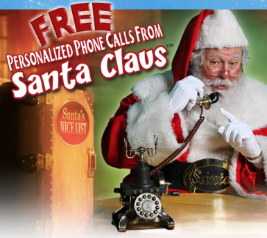 free santa call FREE Personalized Phone Call from Santa!