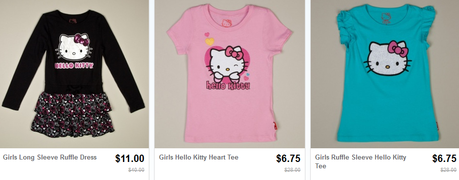 Hello kitty shirts only free shipping for 6 dollar shirts coupon code free shipping