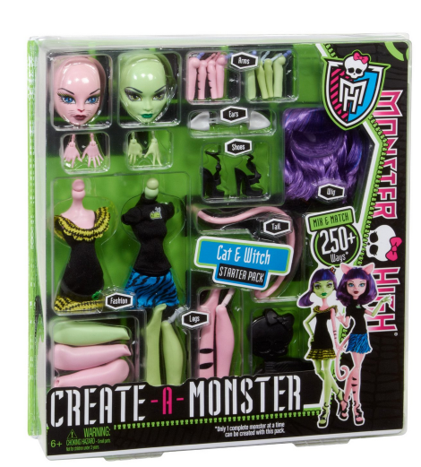 monster high Amazon: Monster High Create A Monster Witch Cat Girl Starter Set $11.00 Shipped (Reg. $21.99!)
