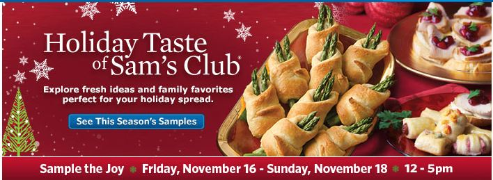 Sams Club Holiday Tasting Event