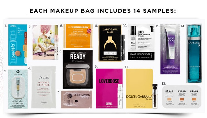 Free Sample Bag with $25 Sephora Purchase