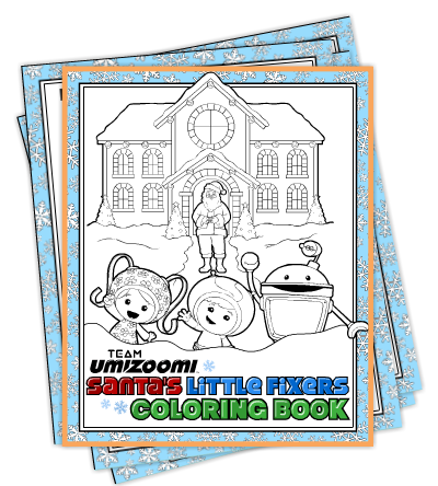 FREE Team Umizoomi Christmas Coloring Pages!