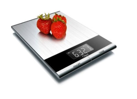 41ufHgmEJJL. SX450 Ozeri Ultra Thin Professional Digital Kitchen Food Scale Only $19.95 (Reg. $50)